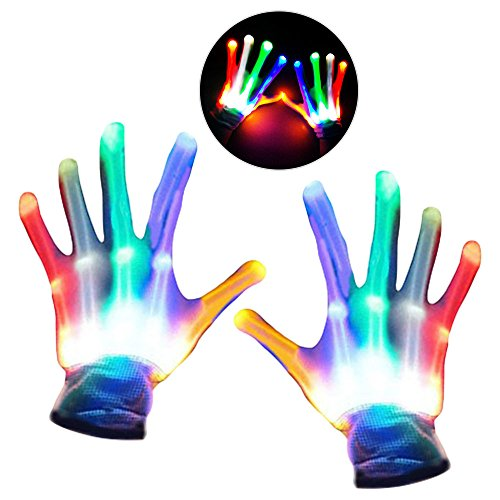 DIMY Boys Gifts, Gifts For Girls 4-8 Years Old, Gifts For Kids LED Flashing Skeleton Gloves (Christmas Tap Dance Costumes)