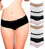 Womens Lace Underwear Hipster Panties Cotton,Spandex-10 Pack Colors and Patterns May Vary,Assorted, Medium