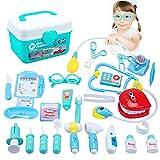 Tigerhu Doctor Kit, 33 Pieces Pretend Medical Play Set for Kids, Children, Toddler