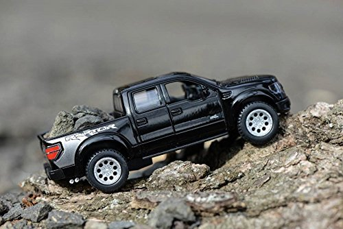 Svt Ford F150 Collectibles (2013 Ford F-150 SVT Raptor SuperCrew Pickup Truck, Black - Kinsmart 5365D - 1/46 scale Diecast Model Toy Car (Brand New, but NO BOX))