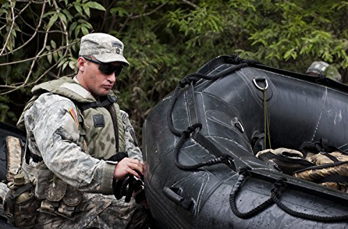 (Laminated Poster A 6th Ranger Training Battalion Soldier secures a raft Prior to Entering a Swamp enroute to a memori)