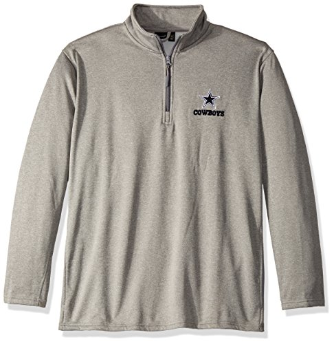 Dunbrooke Apparel NFL Dallas Cowboys Unisex All Starall Star Tech Fleece 1/4 Zip, Heather Grey, 2X by Dunbrooke Apparel