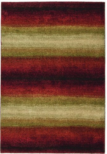(Orian Rugs Plush Stripes Skyline Red Runner (2'3