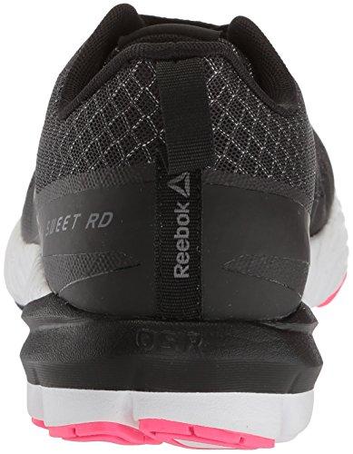 Reebok Womens Sweet Rd Se Sneaker Nero / Argento / Bianco / Rosa Acido / Grigio Cenere