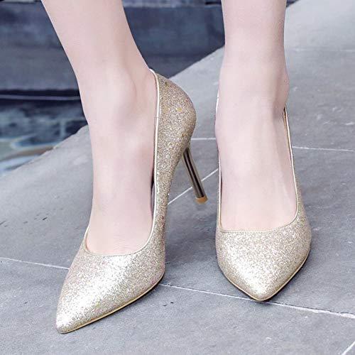 Scarpe Elegante Pumps Oro Donna Misssasa q1A5xS8w8t