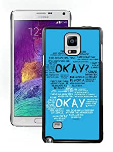 Fashion And Unique Samsung Galaxy Note 4 Case Designed With TFIOS Okay Okay 1 Black Samsung Note 4 Cover