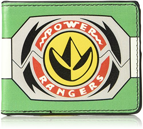 Buckle-Down Men's Wallet Power Rangers Green Ranger Dragonzord Morpher Accessory, -Multi, One Size (Power Rangers Dragonzord Costume)