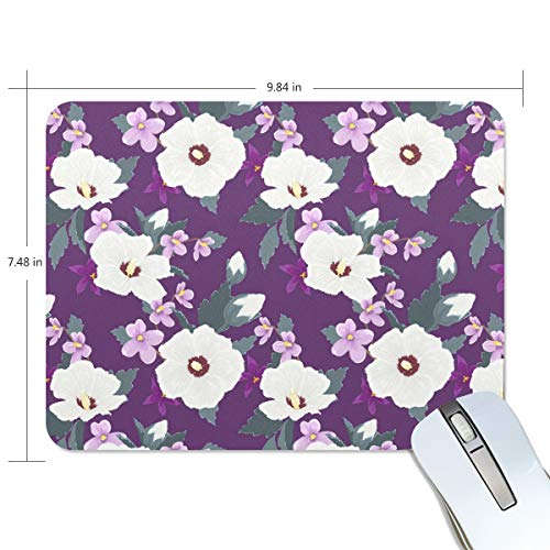 Trendy Edge Fine (Trendy Floral Pattern Tropical Personalized Non-Slip Rubber Mousepad Gaming Mouse Pad Office Mousepad)