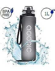 ADORIC Sport Trinkflasche, [BPA Frei Tritan] 1L / 500ml Auslaufsicher Kunststoff Wasserflasche Sport, Sportflasche Fahrrad für Camping Freien, Outdoor, Yoga, Gym