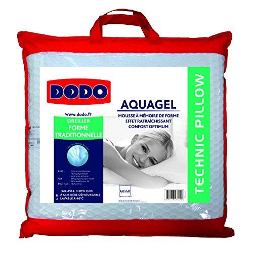 oreiller aquagel dodo Dodo 8221660 Thermogel Oreiller Uni Taie Polyester/Modal + sous  oreiller aquagel dodo