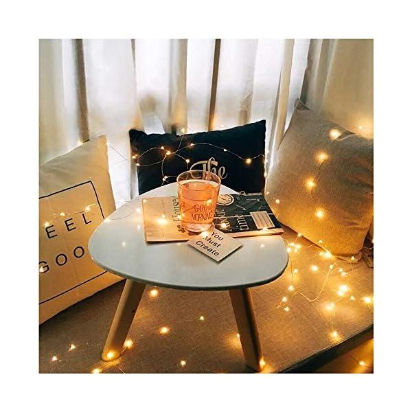 【10 pezzi】Luci Stringa LED - 20 LED 2M Mini Lampada a fili di rame Bianco Caldo, Lucine Decorative a Batteria Luci d'atmosfera Bottiglia di vino, Interni e Esterni per Festa, Natalizie, Halloween 3 spesavip