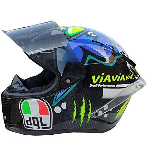 - CAJUXI Fashion Cool Shark Motocross Helmet, Men and Women Locomotive Racing Mountain Bike ATV Karting Scooter Full Face Helmet, DOT Certified Helmet,XL:60~62cm