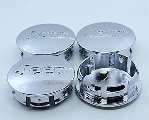 SQSM For Jeep Grand Cherokee / Wrangler Rubicon / Liberty 4 Pcs 56mm Wheel Center Caps Hubcaps