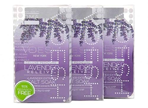 VOESH New York - Lavender Relieve 4-in-1 DIY Spa Pedicure Set - 3 Sets