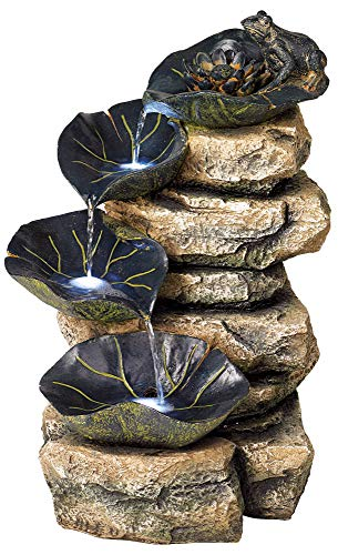 Solar Lighted Outdoor Fountains