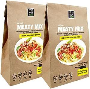 Mezcla de Carne Vegana Instantánea Perfecto para cocinar 200g | proteína de soja | Vegano | 100% Sin Gluten (Pack de 2)