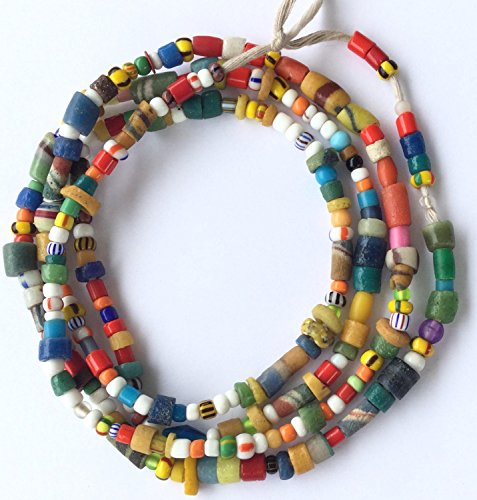 Ghana Mixed Vintage Christmas seed glass African fair trade - Trade Beads African