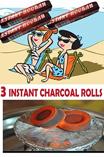 Charcoal Instant - GIANNAH Instant Charcoal for Shisha, Hookah, Argila, Ceremony, Church, Event- Fast Light and Slow Burning 40MM (3 Rolls- 30 Tablets)