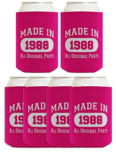 30th Birthday Gift Coolie Made 1988 Can Coolers