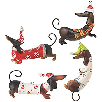 raz imports dachshund ornaments set of 4