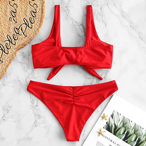ZAFUL Traje de Baño Set de Bikini con Relleno Nudo Delantero ...