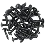 Reliable Hardware Company RH-5134BO-A 3/4-Inch Black Oxide Wood Screw and Wax