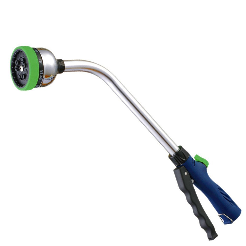 MyLifeUNIT 46.5 cm Garden Watering Wand, Aluminium 9 Pattern Watering Spray Wand GD16L235