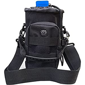 P&P4EVER Molle Pouch Modular Water Bottle Storage,Hydration Water Pouch Molle Black Tactical - Cell Phone iphone 6 6s 7 Plus,Bladder Carrier With 2 Carrying Straps One for Hand and one for Shoulder
