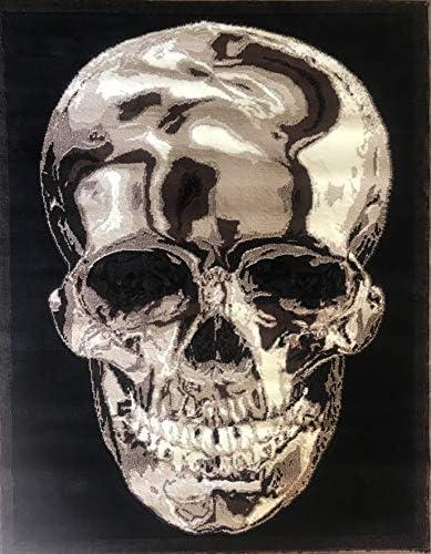 Skull Area Rug Brown Black Americana Design 134 8 Feet X 10 Feet 6 Inch
