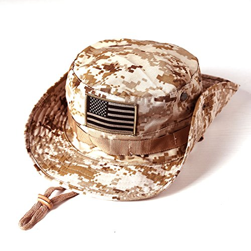 092d1a3c5ef75 MassMall Military Tactical Head Wear Boonie Hat Cap with USA - Import It All