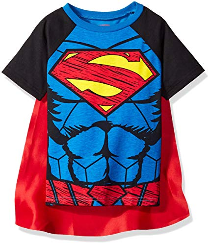 (Warner Bros. Toddler Boys Superman Cape T-Shirt Set  Blue )