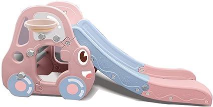 Skiout Tobogán Niños Plegable Juegos Toboganes Plastico Juguetes para Exterior/Interior/Jardin,Pink: Amazon.es: Deportes y aire libre