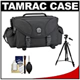 Tamrac 5608 Pro 8 Photo Digital SLR Camera Bag (Black) with Tripod + Accessory Kit for Canon EOS 70D, 6D, 5D Mark III, Rebel T3, T5i, SL1, Nikon D3100, D3200, D5200, D7100, D600, D800, Sony Alpha A65, A77, A99, Best Gadgets