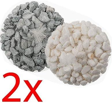 Piedras decorativas piedras para jarrones decoración de la boda jardín., gris: Amazon.es: Jardín