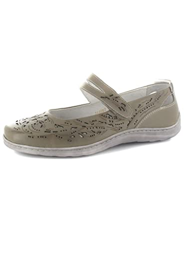 Sale Helena 04 - Damen Spangenballerinas - Grau Schuhe in Übergrößen, Größe  42 Romika 384a07a34d