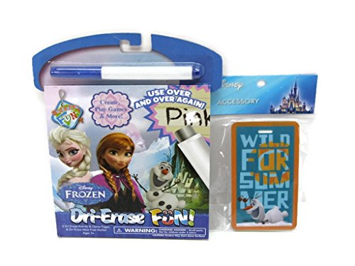 Official Disney Frozen Olaf ID Tag and 5 Dri-Erase Activity & Game Pages