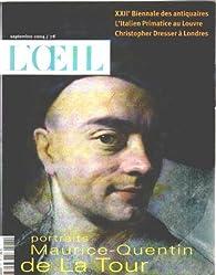 Revue d'art l'oeil n° 561 / portraits maurice-quentin de la tour par  L'Oeil
