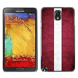 LJF phone case Shell-Star ( National Flag Series-Latvia ) Snap On Hard Protective Case For Samsung Galaxy Note 3 III / N9000 / N9005