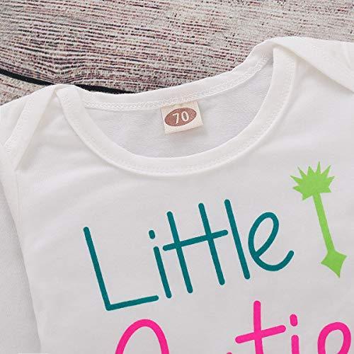 e40aff2692d1 NZRVAWS 4pcs Newborn Baby Clothes for Girls Cactus Print Romper Long Sleeve  Tops White Pants Set