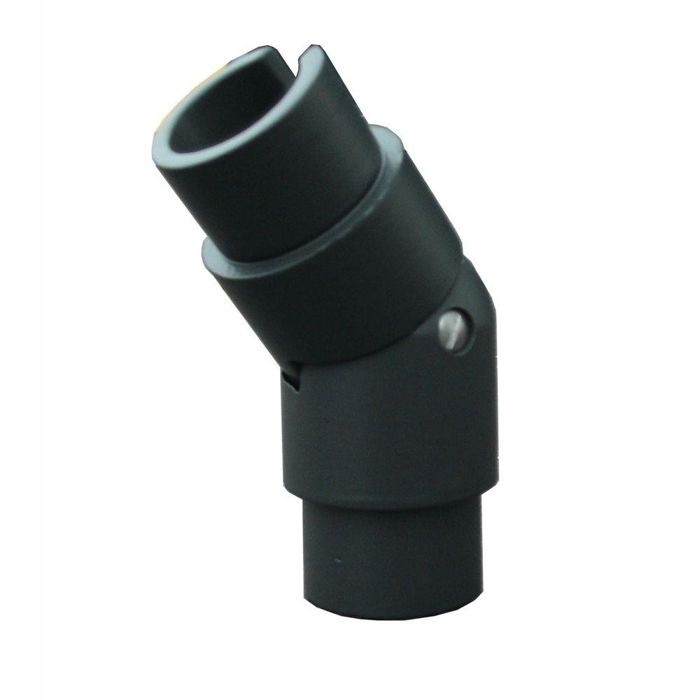 EZ Handrail 1.9 in. Aluminum Round ADA Handrail Bronze Adjustable Angle