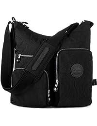 Nylon Multi-Pocket Crossbody Bag