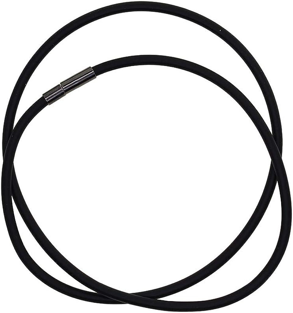 Ketten selber Machen Schwarz Kautschukkette mit silbernem Karabiner Verschluss Choker Halsband aus Kautschuk Schmuckband B Baosity Halskette Kautschukband