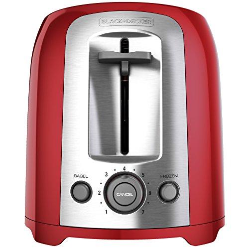 Black & Decker TR1278RM 2-Slice Toaster, Red