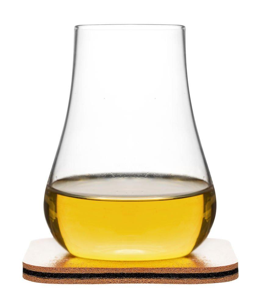 Sagaform 5017622 Whiskey Tasting, Set of 2 Glasses with Coasters, 5 oz, Clear