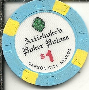 $1 artichoke poker palace casino chip carson city nevada