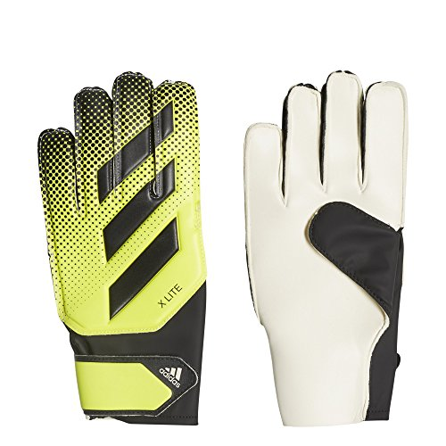 adidas X Lite Soccer Gloves, Solar Yellow/Black, Size 7