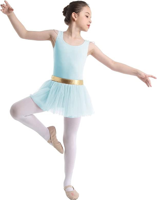 ranrann Maillot de Ballet Patinaje para Niña Vestido Tutú de ...