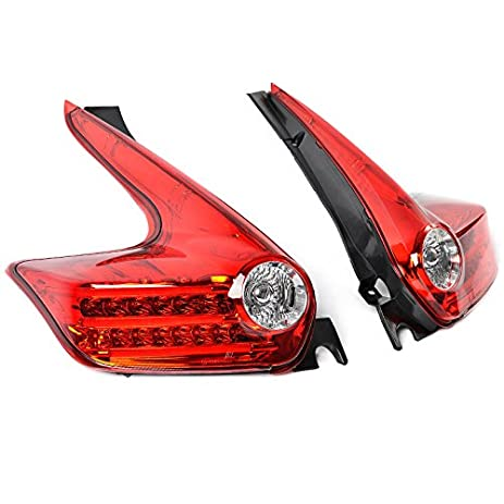 Amazon nissan juke 11 14 mbro led strip tail lights red housing nissan juke 11 14 mbro led strip tail lights red housing clear lens aloadofball Images