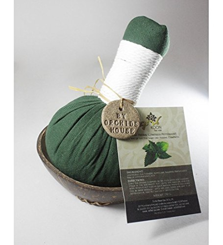 Herbal Compress Massage Ball Therapy (luk Pra Kob) Aroma Spa 100% Natural Herbal Compass Peppermint