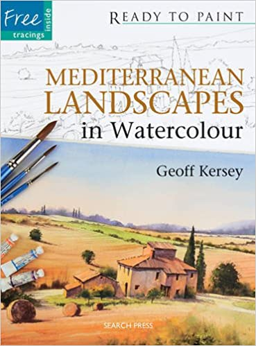 Crafts Ready To Paint New York In Watercolour Book With Geoff Kersey Instruction Books & Media